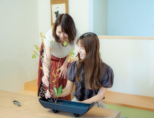 A fun Ikebana class has started